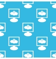 Cloud download monitor pattern vector image vector image