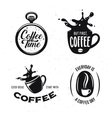 coffee related quotes set time but first vector image