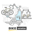creative professional mechanism of bike s vector image vector image