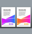 Design cover template with bright shapes on white
