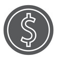 dollar coin glyph icon finance and banking vector image vector image