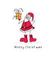 doodle Santa vector image vector image