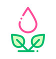 drop watering leaves bush thin line icon vector image