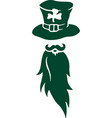 flat clip art for stpatricks day with bearded man vector image