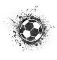 football grunge background vector image