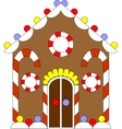 Gingerbread house color 02 vector image