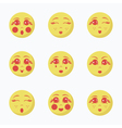 Girls Emoji set vector image