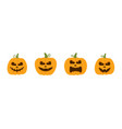 happy funny cute and scary halloween pumpkin set vector image vector image