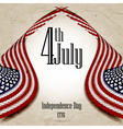 Happy independence day United States of America 4 vector image vector image