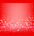 hearts bokeh background red festive background vector image vector image