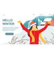 hello winter concept vector image