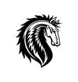 heraldic horse royal gothic heraldry symbol vector image vector image