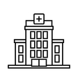 Hospital icon outline style vector image vector image