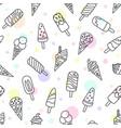 ice cream eskimo waffle cone seamless pattern vector image vector image