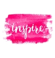 Inspire Brush hand lettering vector image vector image