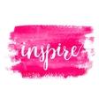 Inspire Brush hand lettering vector image