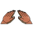 isolated cute hands vector image vector image
