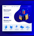 isometric music equipment 4 vector image