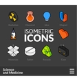 Isometric outline icons set 33 vector image vector image