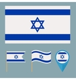 Israel icons for design country vector image vector image