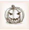 Jack O Lantern sketch vector image vector image