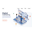 landing page concept marketing strategy for vector image