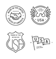 made in usa labels badges stamps set vector image