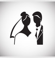 maried couple icon on white background for graphic vector image vector image