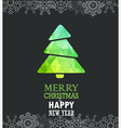 Merry Christmas and a happy New Year greeting card vector image