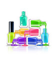 nail polish composition vector image vector image
