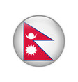 nepal flag on button vector image vector image