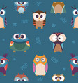 owl pattern kids seamless wallpaper wild night vector image