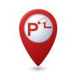 Parking under supervision icon red map pointer vector image