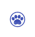 paw print logo with texture vector image