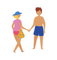 people summer related design couple vector image