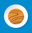 planet venus icon in flat style on round button vector image