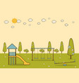 playground in a city park vector image vector image
