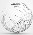 Point and line constructed the sphere wireframe vector image vector image