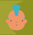 punk man avatar vector image