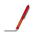 retractable pen icon image vector image