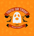Retro Vintage Happy Halloween Badge Night Party vector image vector image