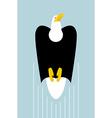 Rise of bald eagles Flight of bird of prey Big vector image vector image