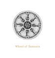 samsara wheel life in vector image
