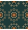 seamless pattern on a dark green background vector image