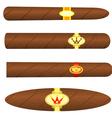 Set kubinskiyh cigars on white background vector image vector image