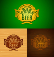 Set of templates beer emblem vector image vector image