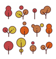 Set round environmentally friendly trees vector image