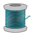 sewing thread roll icon vector image vector image