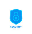 shield icon on white security concept vector image