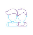 silhouette nice couple with hairstyle design vector image vector image